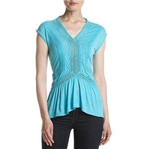 Piece Peplum Summer Top Turquoise  Blouse Shirt